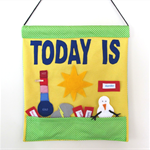 Weather Day Chart large, Child's Wall Hanging Educational Toy