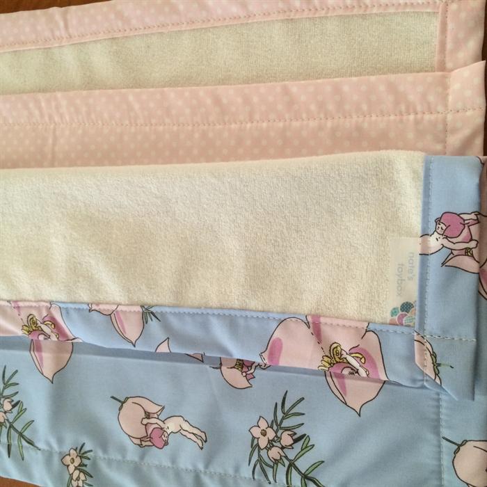 Au Baby Pink Burp Cloths