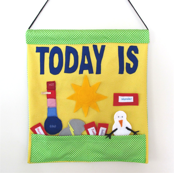 weather day chart child s wall hanging educational toy creative