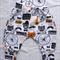 Harem Pants - Size 00. Hipster Fox, Organic Cotton Jersey Knit.