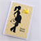 Baby to be congratulations good news silhouette lady yellow bird boy girl card