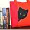 """Peeking Cat"" tote bag - free postage"