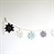 Silver, Aqua & White Snowflake Garland