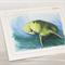 Dugong greeting card Australian wildlife art, 'sea cow'  blue ocean water