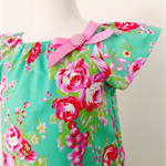 Sizes 000-1 Smock - Melody - Green - Pink - Floral - Girls - Dress