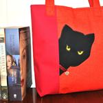"""""""Peeking Cat"""" tote bag - free postage"""