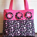 """Brielle"" - ladies pink rockabilly style bag"
