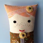 Pillow Person, cute decorator cushion.kids decor, bed pillow.