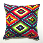 Mexican cushion cover neon aztec pillow ethnic bright tribal pillows cushions