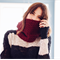 Burgundy cowl crochet wool alpaca handmade cowls accessories scarves scarf