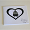 Wedding Day Card| Weddings| On your Wedding Day Card| Monochrome Hearts| WED005