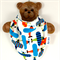 Dribble Bandanna Baby Bib So Soft, Bamboo Toweling, Cotton Aeroplane Fabric