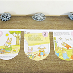Counting Bunting Little Golden Book Bunnies 1 2 3 Children Wall Hanging