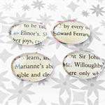Sense and Sensibility Fridge Magnet Set of Glass Edward Ferrars Elinor Dashwood