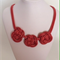 Triple Red Knot Necklace