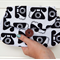 Clutch Purse Pouch Make up Case in Retro Fabric with Telephones