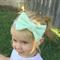 Classic Spearmint bow stretch headband
