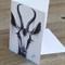 "Blank Greeting Card gazelle ""Madam Gigi"" Charcoal art by April Spadina"