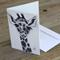 "Blank Greeting Card giraffe ""Don Bianco Baffi"" Art by April Spadina"