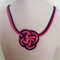 Pink and Purple Knot Necklace