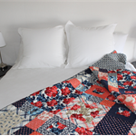 Queen Bed Quilt -Handmade Patchwork Bed Quilt - Custom Order for Nicole