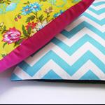 Blue and white chevron zigzag cushion zig zag pillow geometric cushions