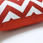 Red and white chevron zigzag cushion zig zag pillow bright cushions
