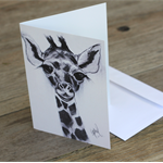 Blank Greeting Card giraffe