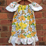 Sweet Vintage fabric dress with doily trim
