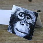 "Blank Greeting Card  ""Pongo Love"" Art by April Spadina"