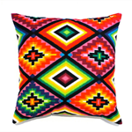 Mexican cushion cover neon aztec pillow ethnic tribal pillows cushions pink