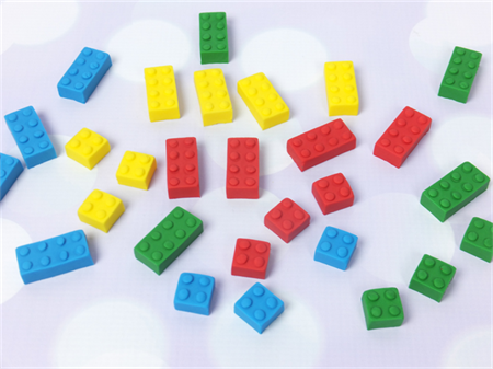 36 Edible Lego Blocks Cake/Cupcake Decorations