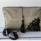 Zippered clutch / pouch / purse - metallic gold with crochet and bead trims