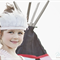 Vintage Pink and White Feather Rope Headband Headdress Baby Child Girls