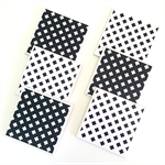 Cross Coasters - 6 Ceramic Tile Drink Coasters Monochrome Black & White