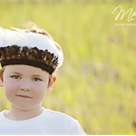 Boys Brown Black and White Rope Feather Headband Headdress Baby Child Boy