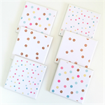 Confetti Coasters - 6 Ceramic Tile Drink Coasters Pink Aqua Yellow Gold Glitter
