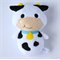 Moo Cow Rattle Toy White Black Blue