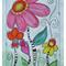 ORIGINAL A3 Watercolour and Ink. Flower Pop.