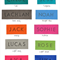 Personalisation Name Tag Option For LARGE UNLINED Drawstring Bags. (First Name)