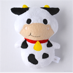 Moo Cow Rattle Toy White Black Red