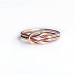 Rose gold love knot ring, celtic love knot ring, double love knot ring