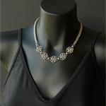Sterling silver chainmaille necklace. Eco-friendly silver jewellery.