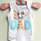 New Dad Baby Onesie I 'heart' Dad Pretty Pastel All Sizes Available