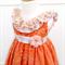 Apricot and Lace Dress - Size 2