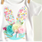 Easter Bunny Pretty Pastels & Flowers Floral Onesie Girls Bunny Tshirt
