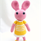 Blush Bunny Crochet Toy, amigurumi rabbit, plush toy, gift.
