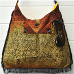 """Jarrah"" - fringed tribal print bag"