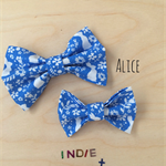 Medium April Blue and white bunny bow (belle and boo)