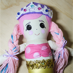 Pink Mermaid Cloth Doll